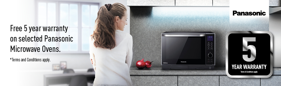 Free five year warranty on selected Panasonic Microwave Ovens - expire 30-09-17